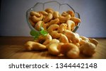 cashew nuts close up | Shutterstock . vector #1344442148