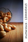 chasew nuts close up            ... | Shutterstock . vector #1344445415