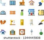 color flat icon set window flat ...   Shutterstock .eps vector #1344445808