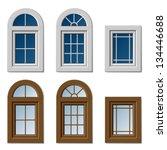 vector plastic windows white... | Shutterstock .eps vector #134446688