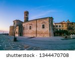 old town church from the stone... | Shutterstock . vector #1344470708