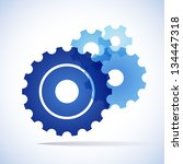 blue trnsparent cogs  gears  on ... | Shutterstock .eps vector #134447318