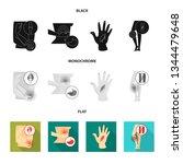 vector design of hospital and...   Shutterstock .eps vector #1344479648