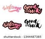 welcome lettering text. modern...   Shutterstock .eps vector #1344487385