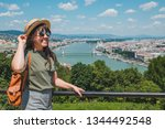 smiling cheerful woman in... | Shutterstock . vector #1344492548