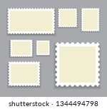 blank postage stamps template... | Shutterstock .eps vector #1344494798