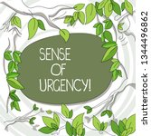 writing note showing sense of... | Shutterstock . vector #1344496862