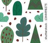 vector seamless pattern... | Shutterstock .eps vector #1344498275