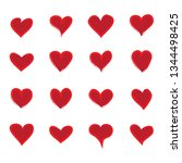 heart icons set isolated on... | Shutterstock .eps vector #1344498425