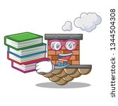 student with book brick chimney ... | Shutterstock .eps vector #1344504308