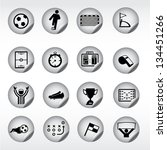 soccer  football icons  stickers | Shutterstock .eps vector #134451266