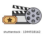 film set objects icon   Shutterstock .eps vector #1344518162