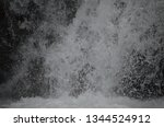 isolated waterfall in tropics | Shutterstock . vector #1344524912