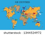 world map of the g20 countries...   Shutterstock .eps vector #1344524972