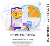 online training at a convenient ... | Shutterstock .eps vector #1344572768