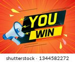 you win word concept vector... | Shutterstock .eps vector #1344582272