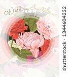 elegant wedding invitation... | Shutterstock .eps vector #1344604232