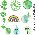 environmental symbols | Shutterstock .eps vector #13446118