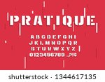 vector modern font and alphabet.... | Shutterstock .eps vector #1344617135