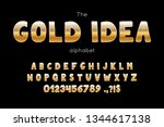 vector font and alphabet. set... | Shutterstock .eps vector #1344617138