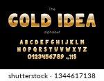 vector font and alphabet. set... | Shutterstock .eps vector #1344617138