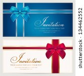 invitation template with... | Shutterstock .eps vector #134462552