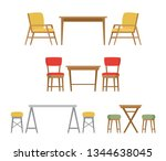 dining table and chairs for two ... | Shutterstock .eps vector #1344638045