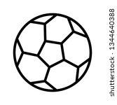 illustration football icon  | Shutterstock . vector #1344640388