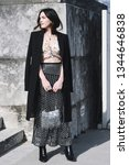 Small photo of Paris, France - February 28, 2019: Street style outfit - Madelyn Furlong before a fashion show during Paris Fashion Week - PFWFW19