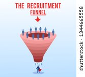 recruitment funnel  process... | Shutterstock .eps vector #1344665558