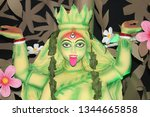 kali  also known as k lik  or...   Shutterstock . vector #1344665858