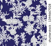fashionable pattern in  flowers.... | Shutterstock .eps vector #1344667028