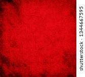 grunge red background texture   Shutterstock . vector #1344667595