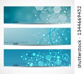 scientific set of modern vector ... | Shutterstock .eps vector #1344669452