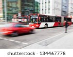 city traffic in motion blur   Shutterstock . vector #134467778