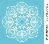 hand drawn lace background.... | Shutterstock .eps vector #1344679412