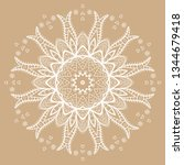 hand drawn lace background.... | Shutterstock .eps vector #1344679418
