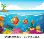 illustration of a school of... | Shutterstock .eps vector #134468366