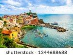 vernazza  liguria  italy  one... | Shutterstock . vector #1344688688