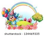 illustration of a female clown... | Shutterstock .eps vector #134469335