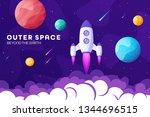 space futuristic modern ... | Shutterstock .eps vector #1344696515