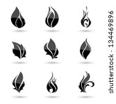 fire flames. collage. | Shutterstock .eps vector #134469896
