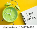 time is money concept with...   Shutterstock . vector #1344716132