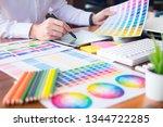 graphic design partners working ...   Shutterstock . vector #1344722285