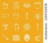 honey apiary vector outline...   Shutterstock .eps vector #1344724478