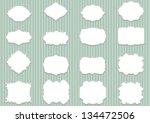 set blank retro labels ... | Shutterstock .eps vector #134472506