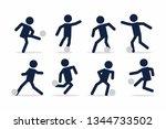 set of football or soccer... | Shutterstock .eps vector #1344733502