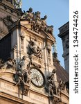 clock of the paris town hall in ...
