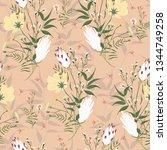 floral seamless pattern.... | Shutterstock .eps vector #1344749258