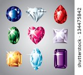 diamonds and gemstones colorful ... | Shutterstock .eps vector #134475842